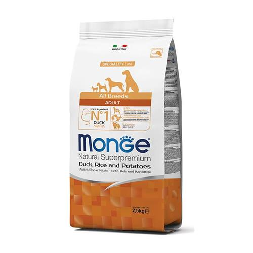 MONGE NATURAL SUPERPREMIUM SPECIALITY LINE ADULT ALL BREEDS ANATRA,RISO E PATATE 12KG